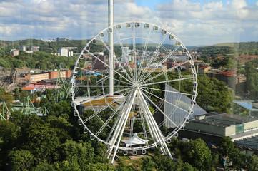 Ferris wheel. View over.