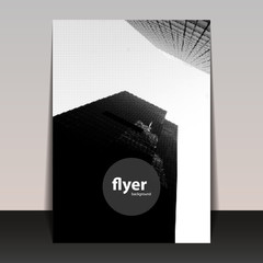 Skyscrapers - Flyer or Cover Design, Halftone Image