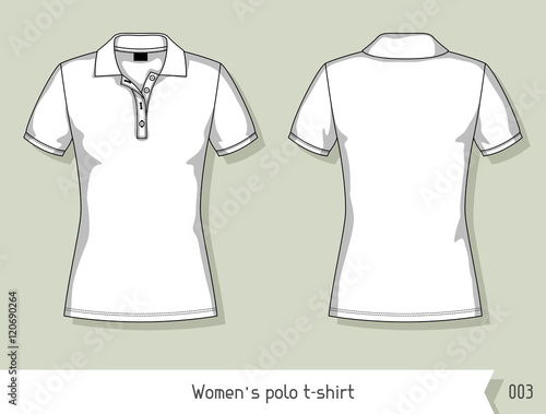 Women polo t-shirt. Template for design, easily editable by layers ...