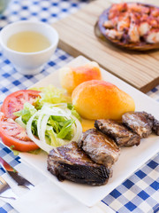 Bonito fish in Galician restaurant