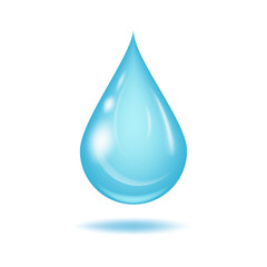 Water drop vector illustration.