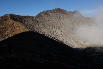 Vue sur le cratère, Indonésie