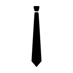 Long necktie or neck tie fashion accessory flat icon for apps and websites