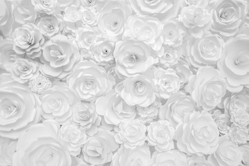 white paper flowers decorative background