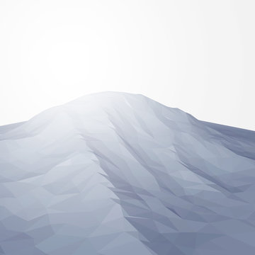 Low Poly Mountain Vector Illustration
