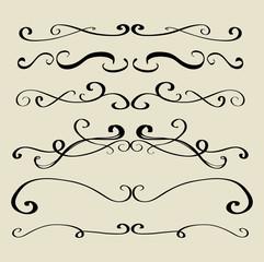 Decorative divider set vector