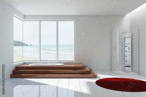 Badezimmer mit dusche und badewanne stockfotos und lizenzfreie bilder auf bild - Badezimmer mit dusche und badewanne ...