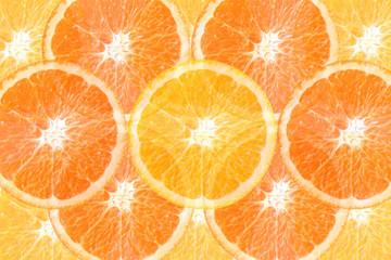 Slice of orange for a background.