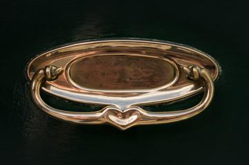 Art Nouveau Brass Letterbox