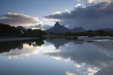 Mauritius, Western Mauritius, Tamarin, Montagne du Rempart mountain (el. 777 meters) , dawn