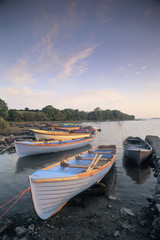 Boats on Lake, Connemara, County Galway, Ireland