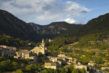 Village overview, Valldemossa, Mallorca,  Balearic Islands, Spain