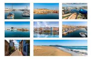Carte postale de Sète dans l'Hérault en Occitanie, France