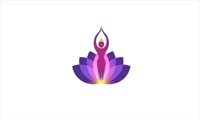 SPA WITH PURPLE FLOWERS LOTUS VECTOR