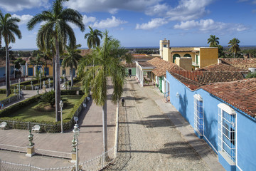 Cuba, Trinidad, View of Plaza Mayor
