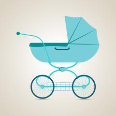 Baby transport. Pram. Vector illustration