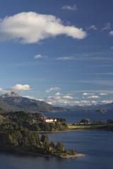 Argentina, Rio Negro Province, Lake District, Llao Llao, Hotel Llao Llao and Lake Nahuel Huapi