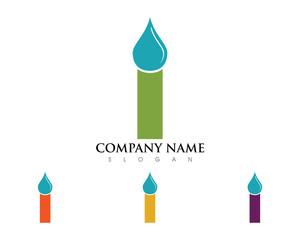 I Letter Waterdrop Logo
