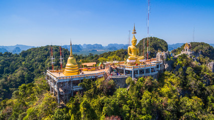 pagodas beside stair along the way to hilltop