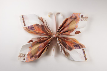 dollars in the form of butterflies
