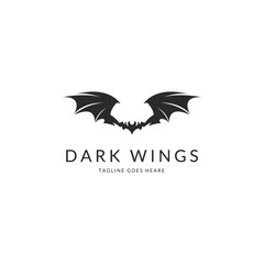 Wings logotype. Easy to edit, change size, color and text.