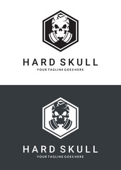Gas mask logo. Two versions