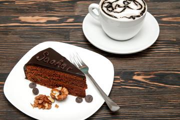 Delicious cake Sacher