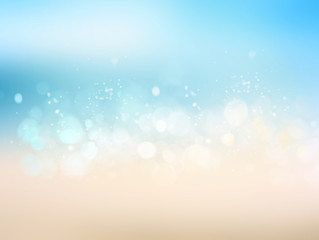 Travel beach blurred abstract illustration background.