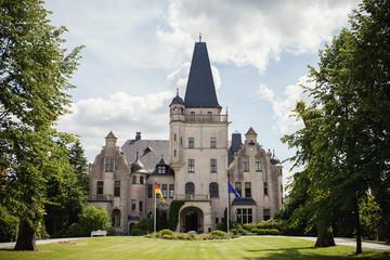 Foto auf Leinwand Schloss Schloss Tremsbüttel