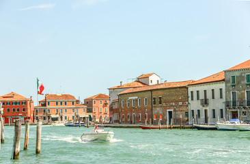 VENICE, ITALY - AUGUST 14,2011 : Murano glass making island, Ven
