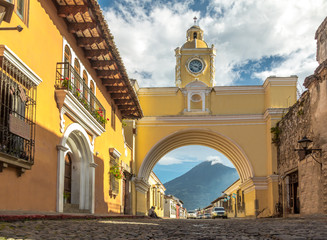 Santa Catalina Arch and Agua Volcano - Antigua, Guatemala