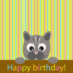 Vector greeting card on the theme of birthday.