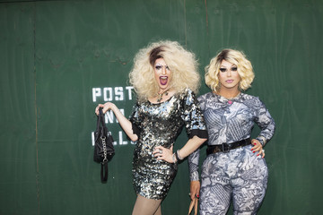 Portrait of two drag queens