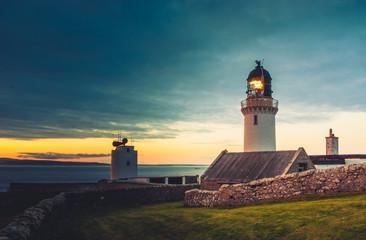 Foto auf AluDibond Leuchtturm Dunnet Head lighthouse