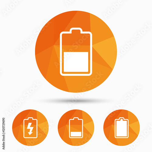 Battery Charging Icons Electricity Symbol Stock Image And Royalty