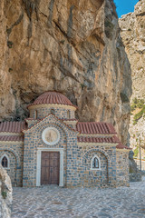 Crete, Greece: typical orthodox mountain church