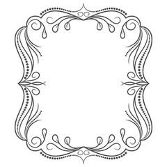 Vintage frame. Elegant luxury vintage calligraphy frame. Template for greeting card, invitation