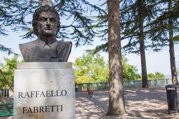 Raphael Fabretti statue