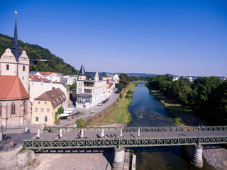 gera untermhaus panorama bridge architecture summer