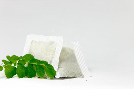 Moringa Leaves and Tea Bag