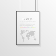 infographic as hanging signs with description