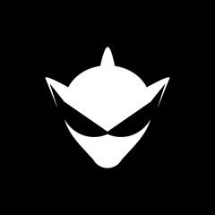 Modern Alien Logo Image Vector Icon