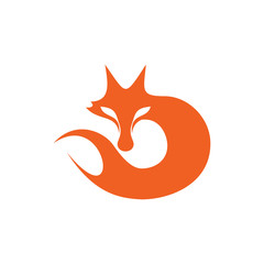 Modern Fox Logo Image Vector Icon