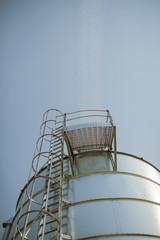 silver corn silo