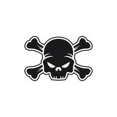 Modern Skull Logo Image Vector Icon