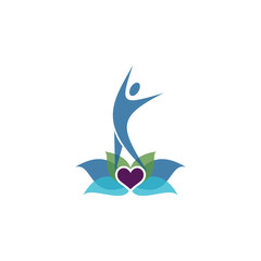Modern Yoga Coaching Logo Image Vector Icon