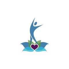 Modern Yoga Coaching Logo Image Vector Icon