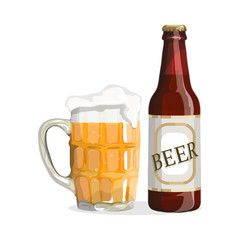 Beer.Realistic vector image isolated on a white background