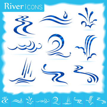Different pattern of water flow