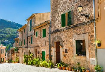 Mediterranean mountain village Valldemossa Majorca Spain